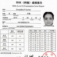 HSK Level-4 Certificate
